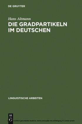 Die Gradpartikeln im Deutschen