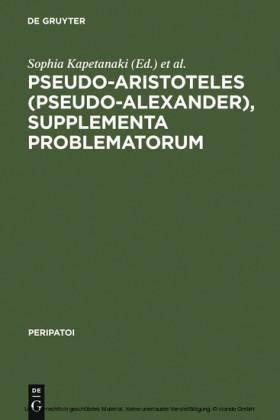 Pseudo-Aristoteles (Pseudo-Alexander), Supplementa Problematorum