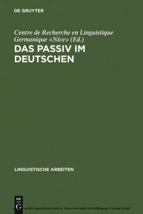 Das Passiv im Deutschen