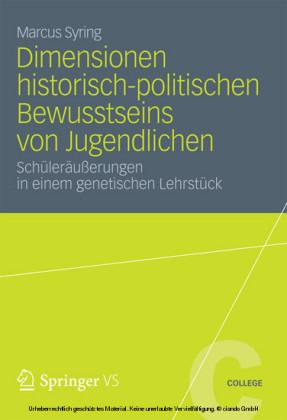 Dimensionen historisch-politischen Bewusstseins von Jugendlichen