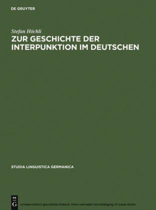 Zur Geschichte der Interpunktion im Deutschen