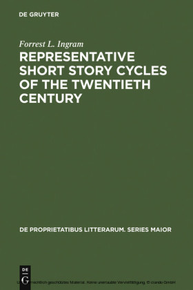 Representative Short Story Cycles of the Twentieth Century