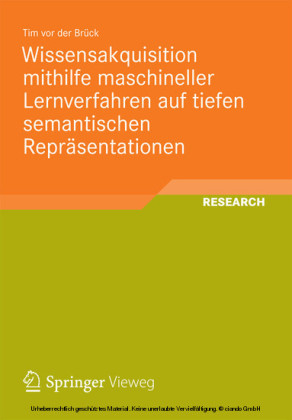 Wissensakquisition mithilfe maschineller Lernverfahren auf tiefen semantischen Repräsentationen