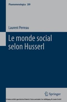 Le monde social selon Husserl