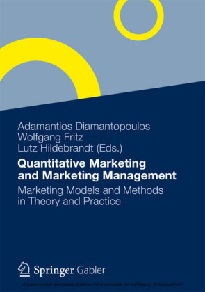 Quantitative Marketing and Marketing Management