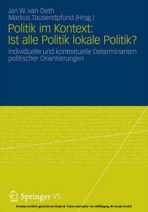 Politik im Kontext: Ist alle Politik lokale Politik?