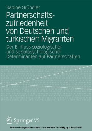 Partnerschaftszufriedenheit von Deutschen und türkischen Migranten