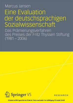 Eine Evaluation der deutschsprachigen Sozialwissenschaft