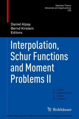 Interpolation, Schur Functions and Moment Problems II