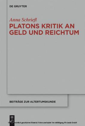 Platons Kritik an Geld und Reichtum