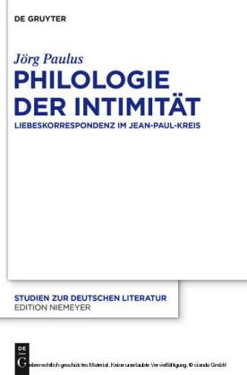 Philologie der Intimität