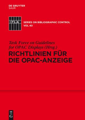 Richtlinien für die OPAC-Anzeige