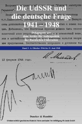 Die UdSSR und die deutsche Frage 1941-1948.