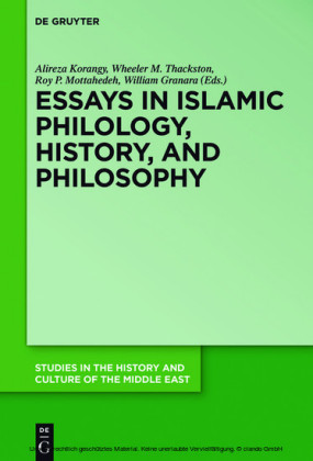 Essays in Islamic Philology, History, and Philosophy