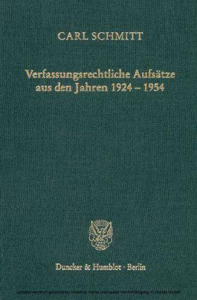 Verfassungsrechtliche Aufsätze aus den Jahren 1924-1954.