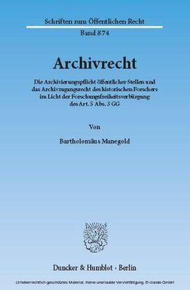 Archivrecht.