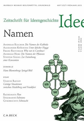 Zeitschrift für Ideengeschichte Heft VII/1 Frühjahr 2013