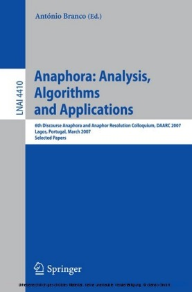 Anaphora: Analysis, Algorithms and Applications