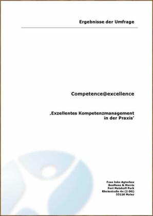 Exzellentes Kompetenzmanagement in der Praxis