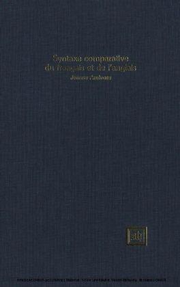 Syntaxe comparative du français et de l'anglais