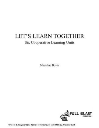 Let's Learn Together: Six Cooperative Learning Units