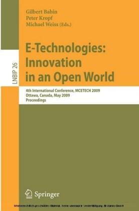 E-Technologies: Innovation in an Open World