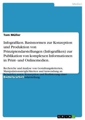 Infografiken. Basisnormen zur Konzeption und Produktion von Prinzipiendarstellungen (Infografiken) zur Publikation von komplexen Informationen in Print- und Onlinemedien.