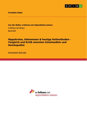 Hippokrates, Hahnemann & heutige Heilmethoden - Vergleich und Kritik zwischen Schulmedizin und Homöopathie