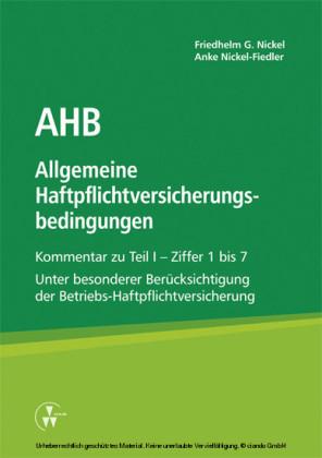 AHB Allgemeine Haftpflichtversicherungsbedingungen