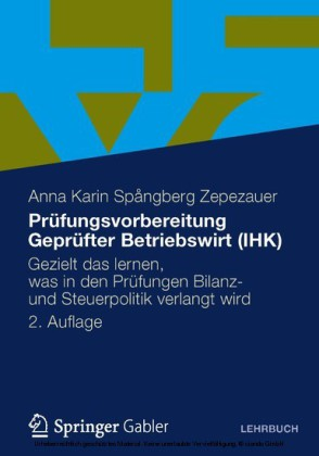 Prüfungsvorbereitung Geprüfter Betriebswirt (IHK)