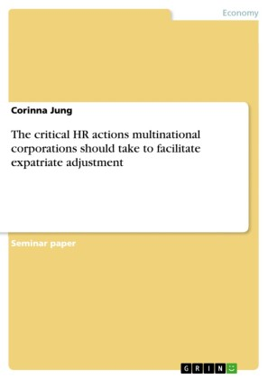 The critical HR actions multinational corporations should take to facilitate expatriate adjustment