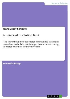 A universal resolution limit