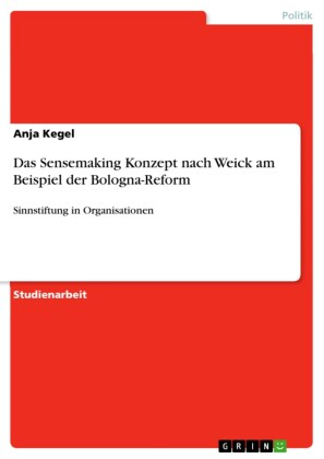 Das Sensemaking Konzept nach Weick am Beispiel der Bologna-Reform