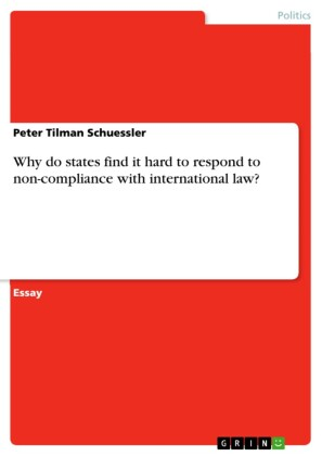 Why do states find it hard to respond to non-compliance with international law?