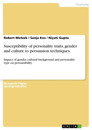 Susceptibility of personality traits, gender and culture to persuasion techniques
