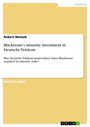 Blackstone's minority investment in Deutsche Telekom