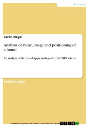 Analysis of value, image and positioning of a brand