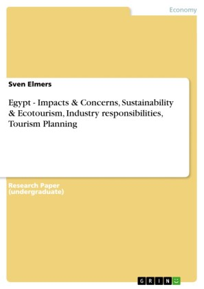 Egypt - Impacts & Concerns, Sustainability & Ecotourism, Industry responsibilities, Tourism Planning