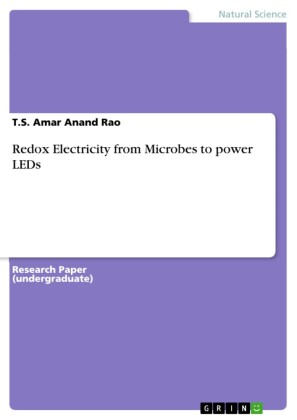 Redox Electricity from Microbes to power LEDs
