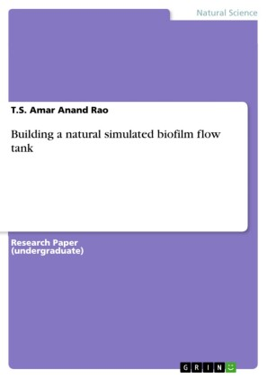 Building a natural simulated biofilm flow tank