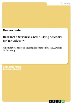 Research Overview Credit Rating Advisory for Tax Advisors
