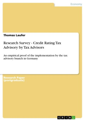 Research Survey - Credit Rating Tax Advisory by Tax Advisors
