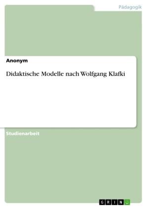 Didaktische Modelle nach Wolfgang Klafki
