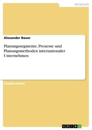 Planungssegmente, Prozesse und Planungsmethoden internationaler Unternehmen