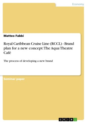 Royal Caribbean Cruise Line (RCCL) - Brand plan for a new concept: The Aqua Theatre Café