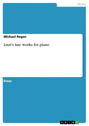 Liszt's late works for piano
