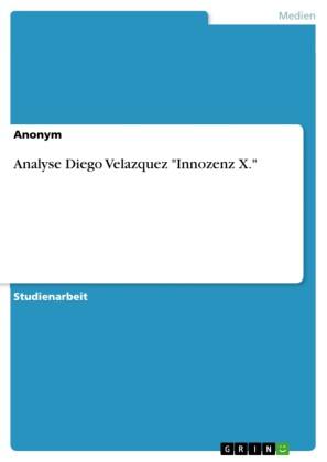 Analyse Diego Velazquez 'Innozenz X.'
