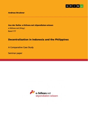 Decentralization in Indonesia and the Philippines