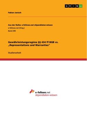 Gewährleistungsregime 434 ff BGB vs. 'Representations and Warranties'