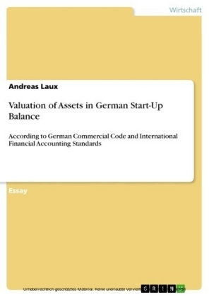 Valuation of Assets in German Start-Up Balance